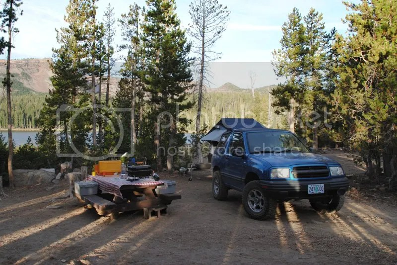 Jeep Trailer Three Creeks Lake Oregon Adventure with Compact Camping Trailers and Dinoot Trailers Campsite