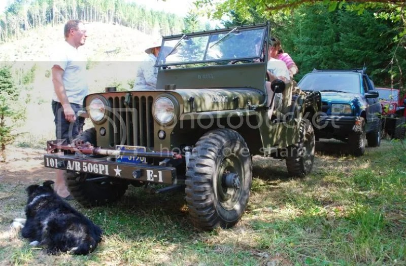 Jeep Willys Outing at Whitewater Ranch with Compact Camping Concepts Dinoot Trailer