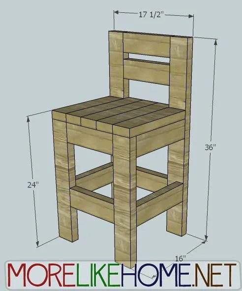 Tall Sitting Stool Plans