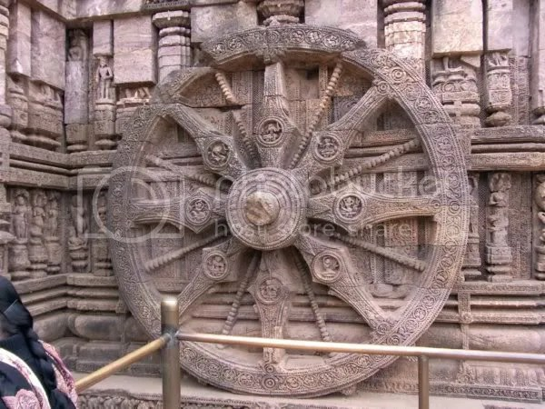 Konark sun temple wheel