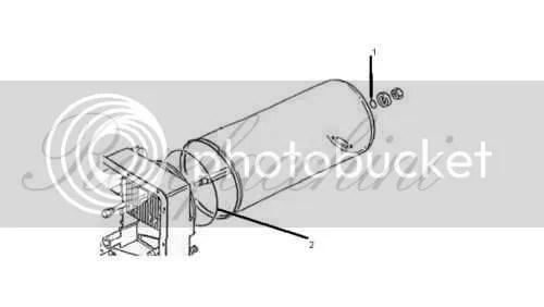 Carver Cascade 2 Water heater Tie Bar Rod & Tank O Ring