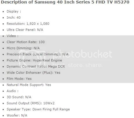 Samsung 40 Inch H5270 Satellite TV price in Pakistan