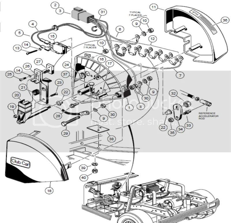 club car ds 36 volt wiring diagram diagrams stereo ezgo 1994 database cart motor schematic controllers