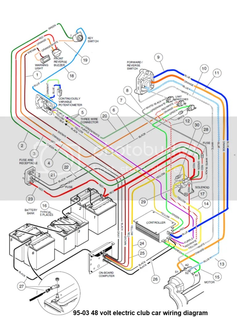 95 0348voltcc~original club car wiring diagram 48 volt,48 Volt Club Car Wiring Diagram Golf Cart