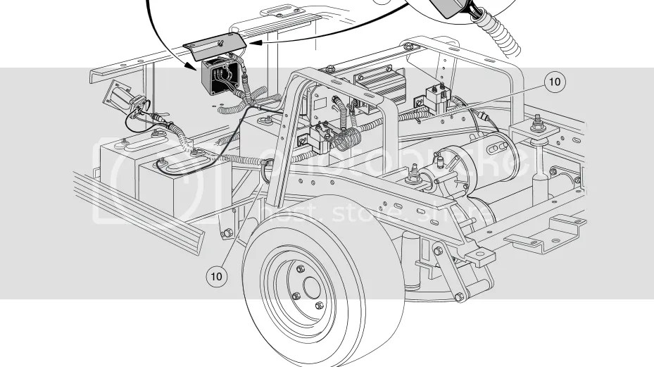 2001 club car DS 48V solenoid locations