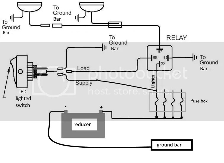 48V reducer wiring with 12V accessory relays