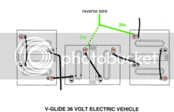 36 Volt V-Glide Wiring problem.