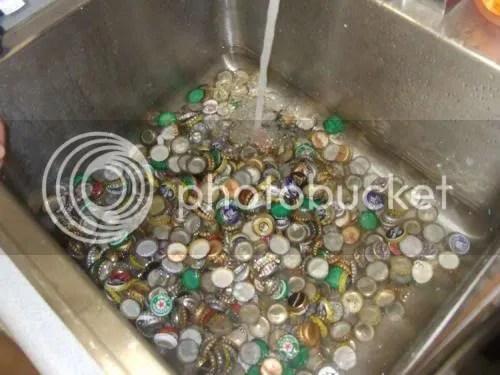 Beer Bottle Caps - Washed