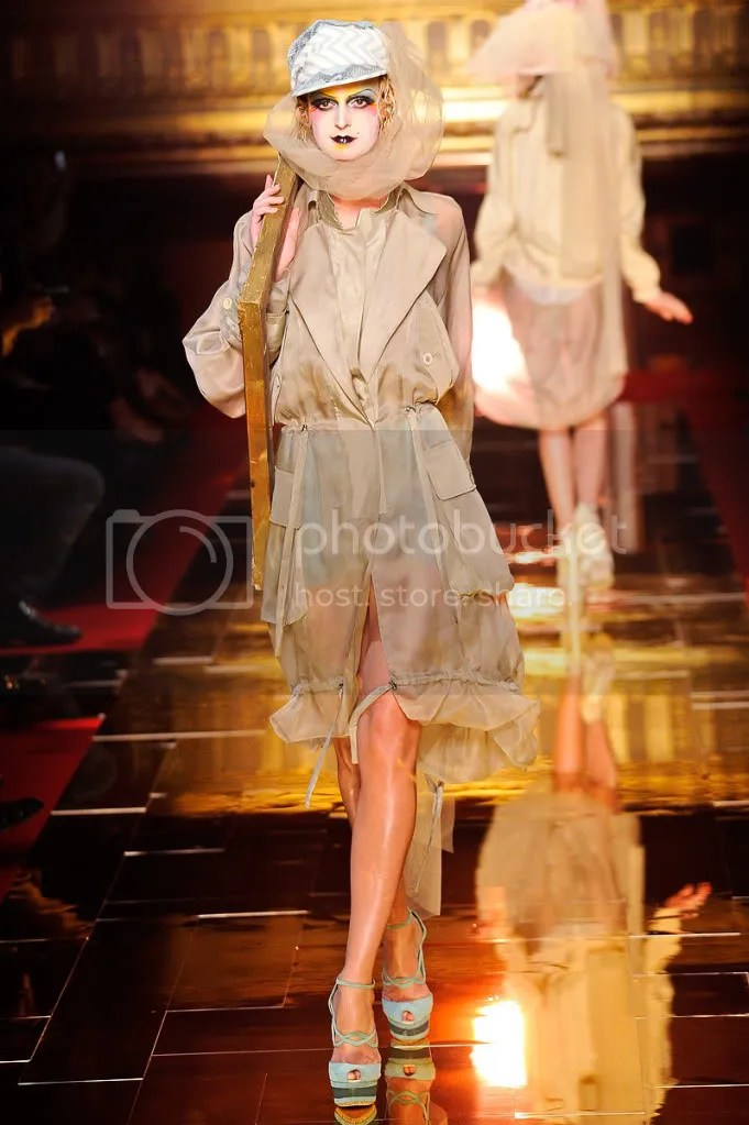 Galliano SS11 chiffon trench