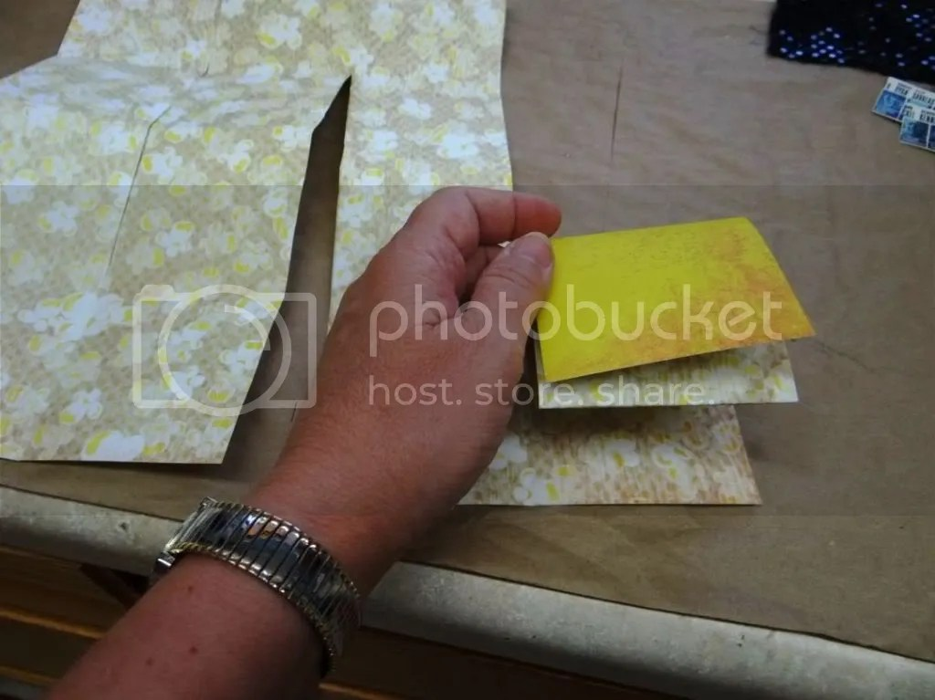 Making a Book from Scrapbook Paper
