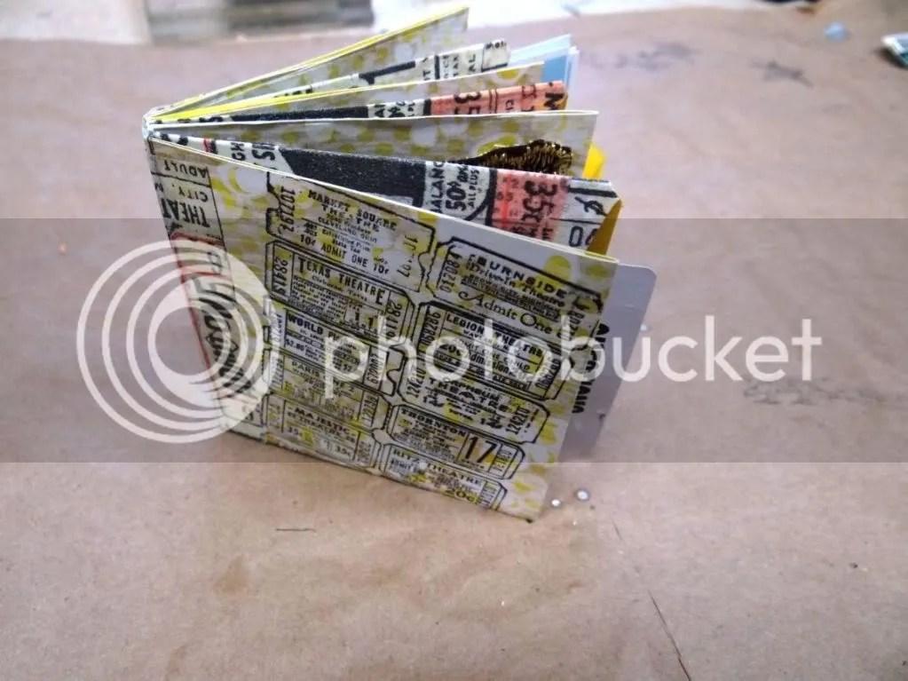 Handmade Book Using Scrapbook Paper