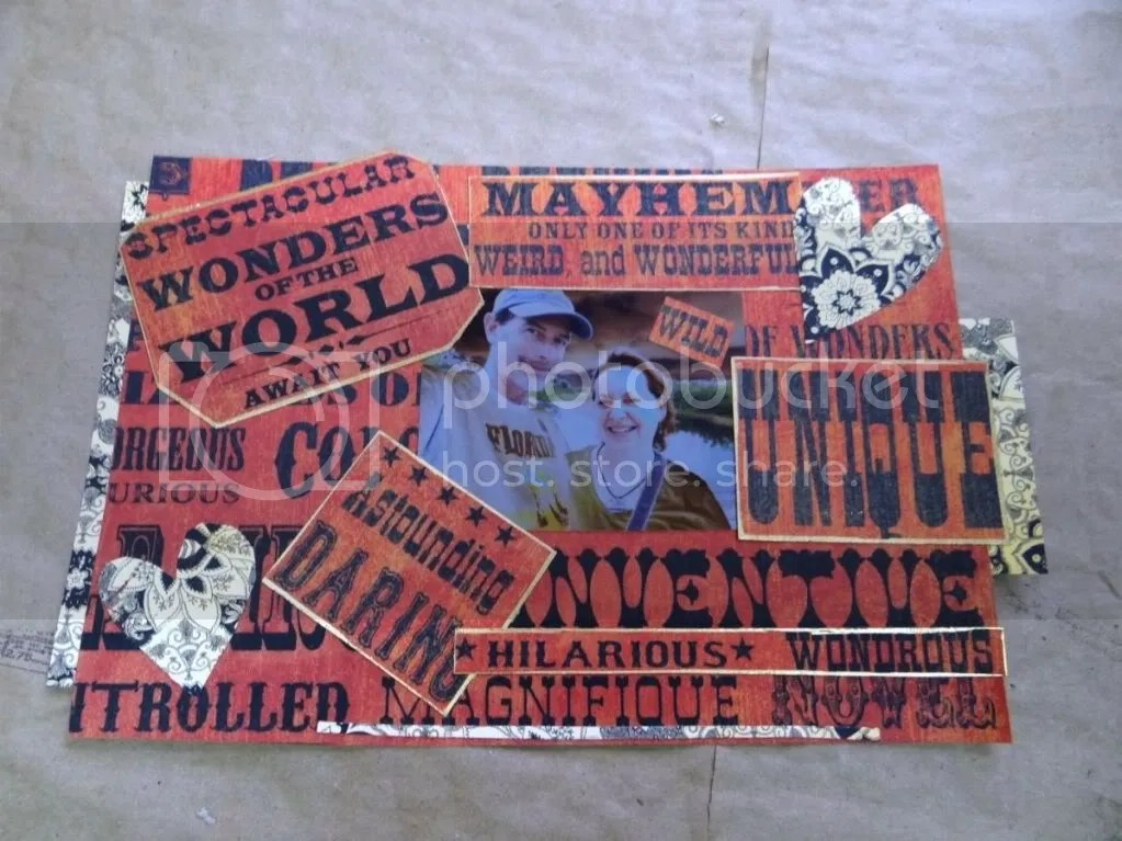 Collage Scrapbook Layout