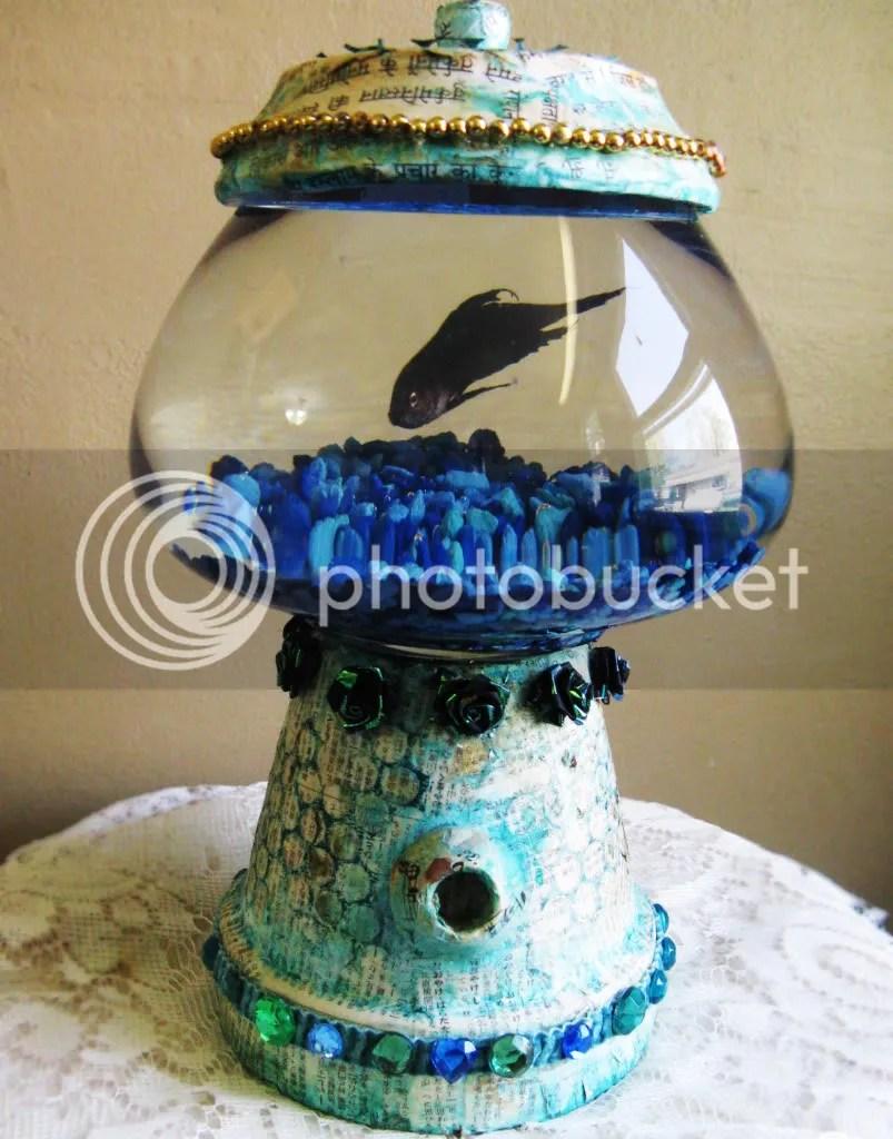 diy bubble gum machine fish bowl