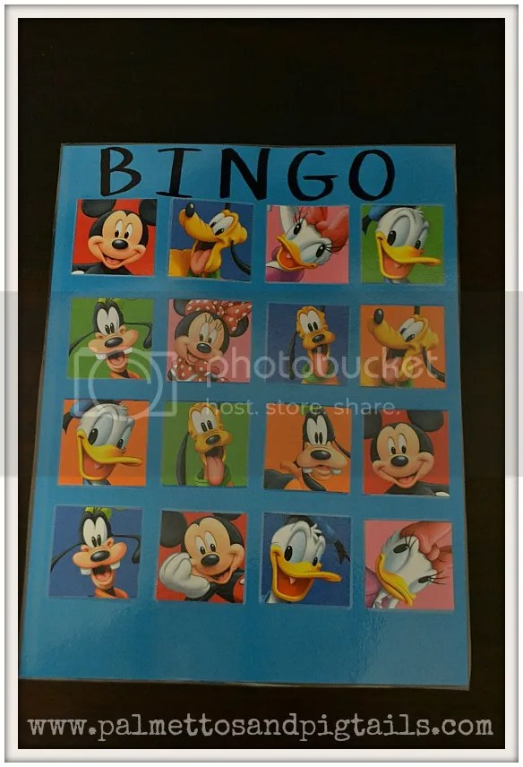 Top 5 Disney Activities to do with Kids Under 4: BINGO- PalmettosandPigtails.com