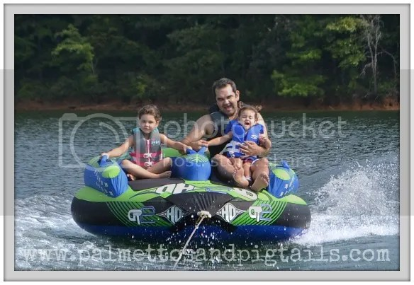 Tubing on Lake Keowee