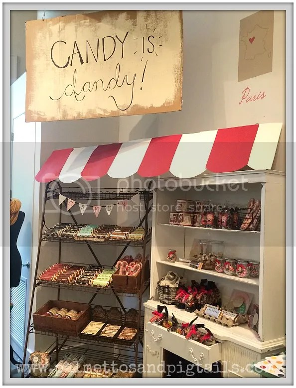 Candy and Chocolate display from Declaration Boutique in Saint Augustine, Florida
