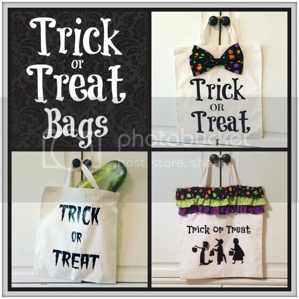 A DIY Tutorial on how to whip up some cute Halloween Trick or Treat bags with a Silhouette and vinyl