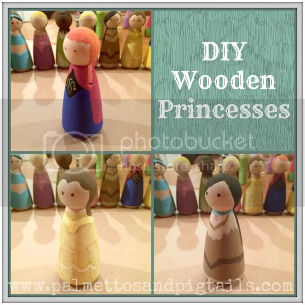 DIY Wooden Disney Princesses