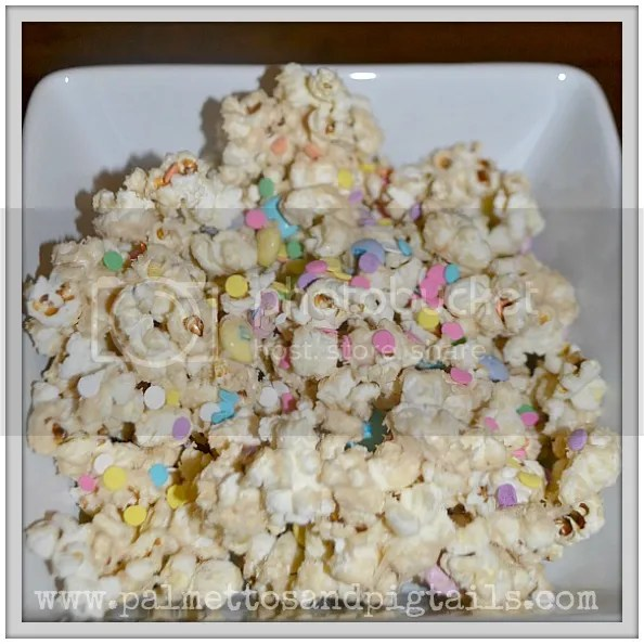 Cookie Butter and White Chocolate Covered Popcorn Recipe