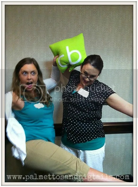 Collective Bias had us stretching awkwardly at Bloggy Boot Camp