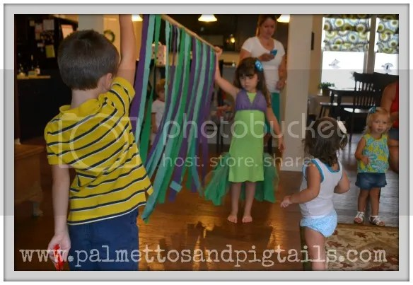 Limbo at our #TheLittleMermaid birthday party #shop #cbias #DisneyPrincessPlay