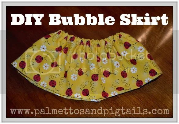 DIY Bubble Skirt Tutorial from Palmettos and Pigtails