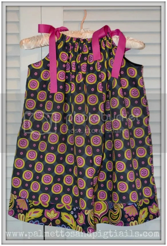 The Button Pillowcase Dress from McAdoodle Consignment and Palmettos and Pigtails