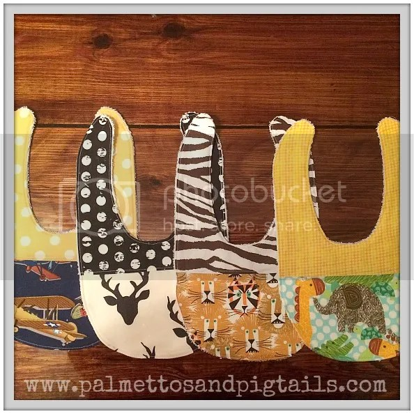 Bibs {also available with Pacifier Holders} in Palmettos and Pigtails' Etsy Shop
