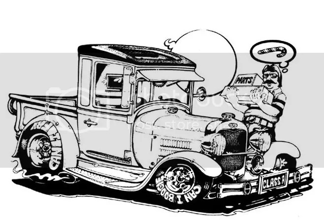 1929 ford truck coloring pages