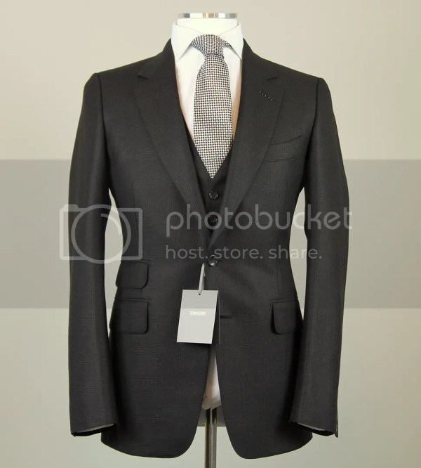 Tom Ford 3-piece Brown Suit Size 38 48 Eu Extra Slim Fit Base Model Nwt