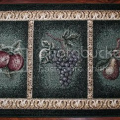 2x3 Kitchen Rug White Cabinets Mat Green Washable Mats Rugs Fruit Grapes Pears Cherry Peach Rugorama1