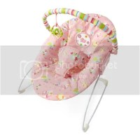 BRIGHT STARTS ALPHABET PINK QUILT BABY GIRL BOUNCER FROM