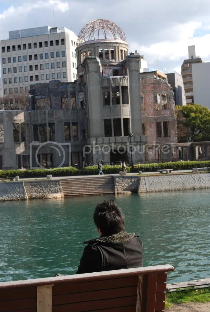looking at the atom bomb dome