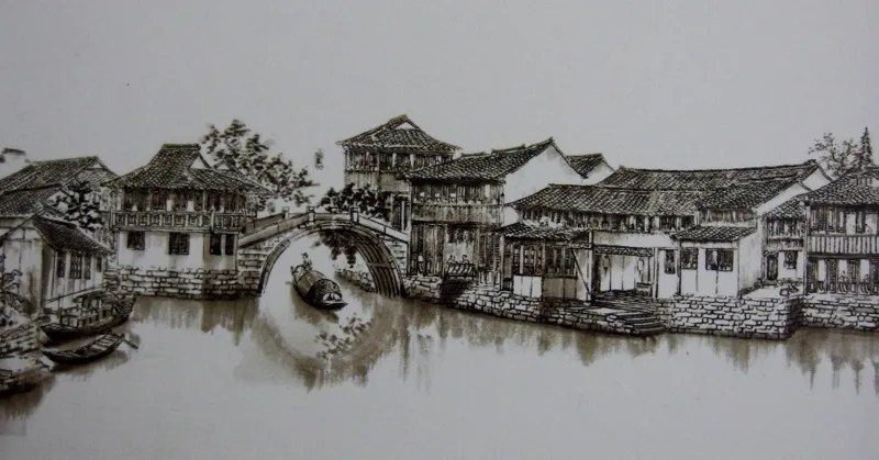 Drawing Inspiration from a Water Town (1/6)