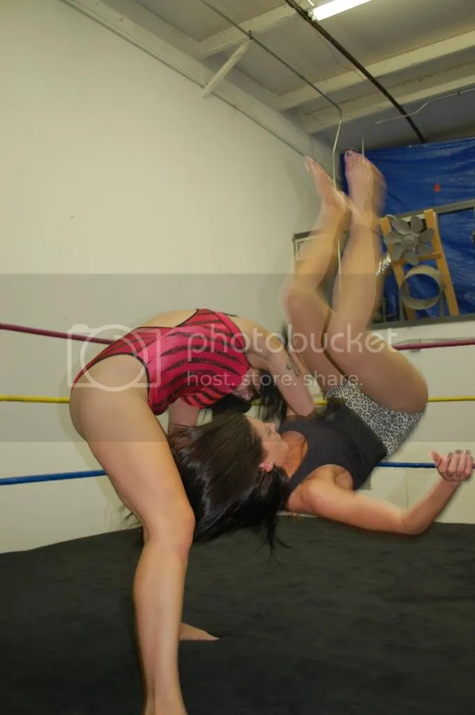 """Smokin' HOTT"" Nikki Lane takes Santana Garrett down to the canvas with a hip toss photo DSC_0446.jpg"