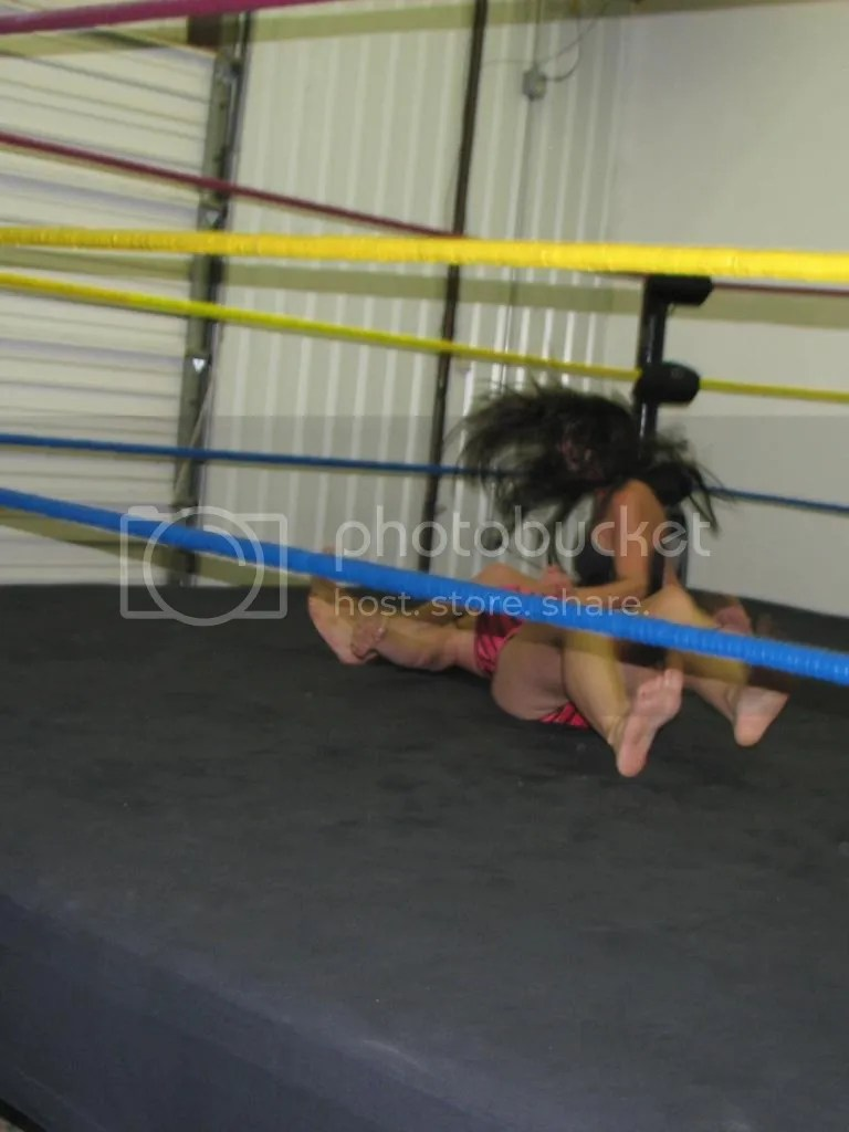 "Santana Garrertt delivers a standing double legdrop down onto ""Smokin' HOTT"" Nikki Lane photo IMG_1859.jpg"