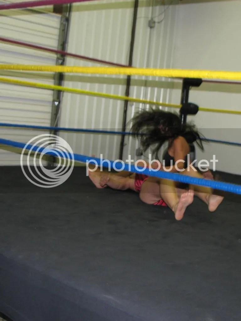 "Santana Garrertt delivers a standing double legdrop down onto ""Smokin' HOTT"" Nikki Lane photo IMG_1859.jpg"
