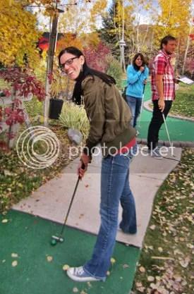 kim golfing