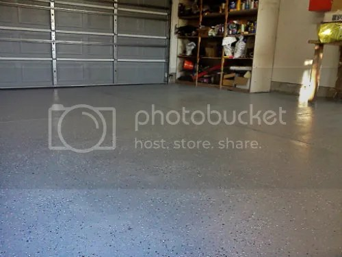 epoxy painted garage floor