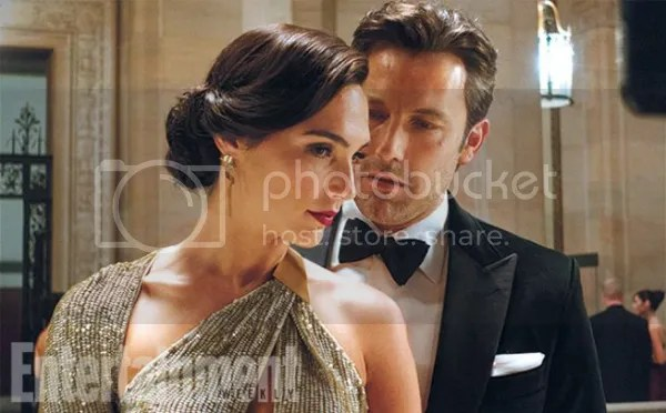 A picture of Gal Gadot and Ben Affleck from Batman v Superman: Dawn of Justice.