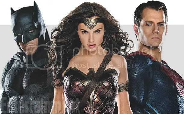 Wonder Woman, Batman, and Superman from Entertainment Weekly's Comic-Con Preview issue.