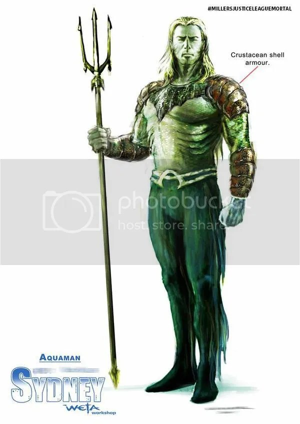 A sneak peak of Aquaman from George Miller's Justice League Mortal.