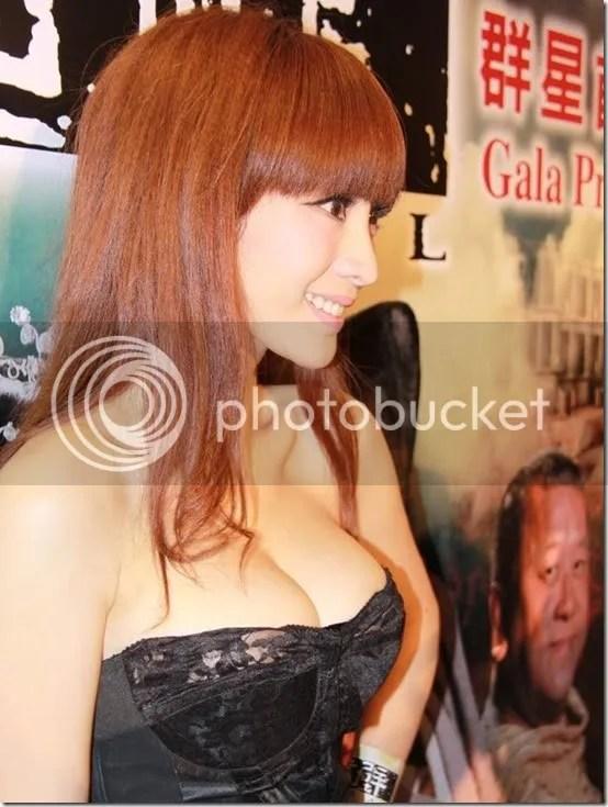 Ada Liu Yan in low cute dress to pr 2, girl xinh, gai xinh, gai xinh, anh girl xinh,  PG Ada Liu Yan   nhìn ngon quá