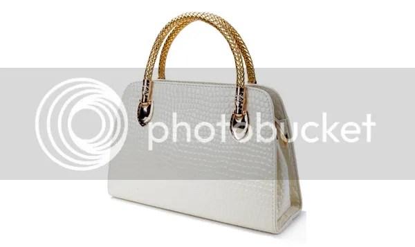 Sammy Dress: Elegant Women's Tote Bag With Crocodile Print and PU Leather Design
