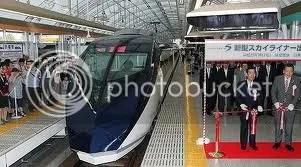 New airport train to Narita