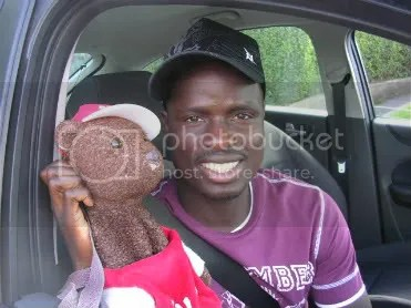 Eboue and his friend with the black hat
