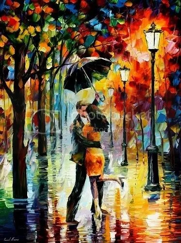 Dancing in the Rain by Leonid Afremov