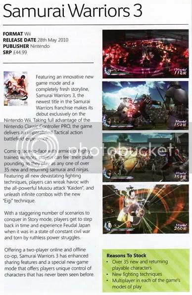 Samurai Warriors 3 Magazine Scan
