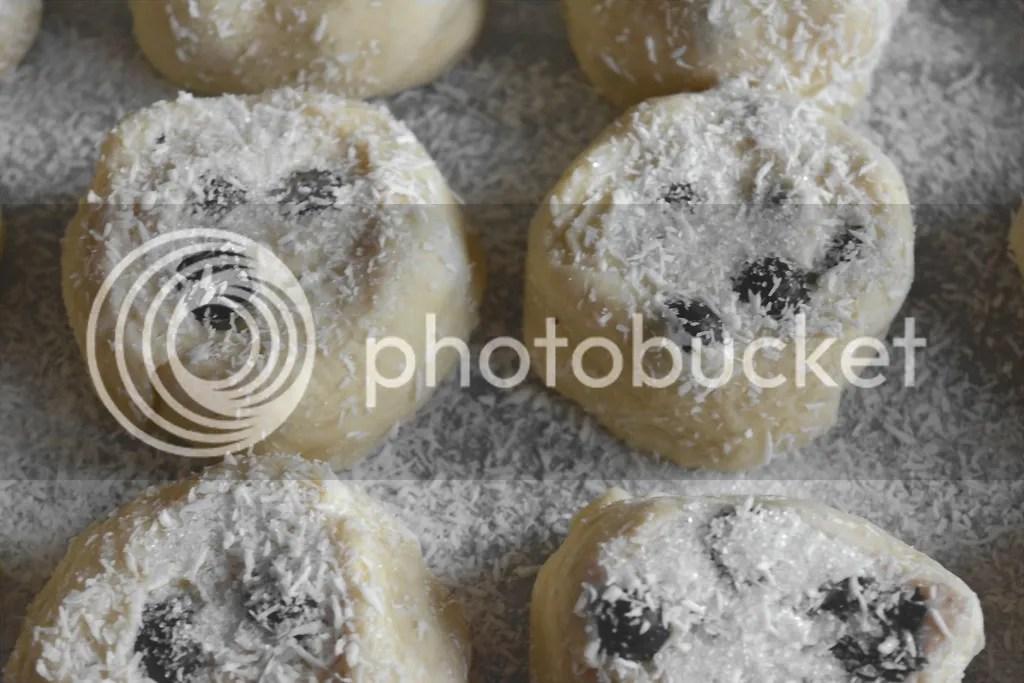 bosbessenbroodjes met kokos