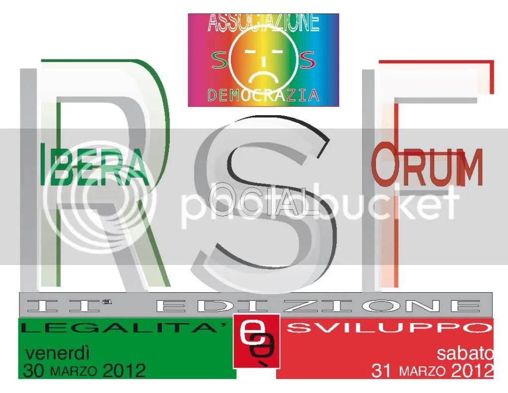 """""""Ribera Social Forum 2012: Legalità e/è sviluppo"""". Ribera 30/31 marzo"""
